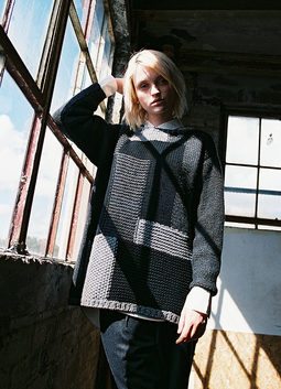 Hand Knit Patchwork Jumper