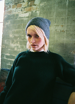 Hand Knit Garter Stitch Hat