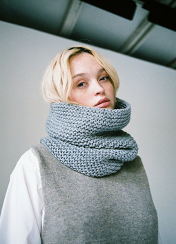 Hand Knit Garter Stitch Snood