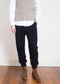 Cashmere Drawstring Pants Black